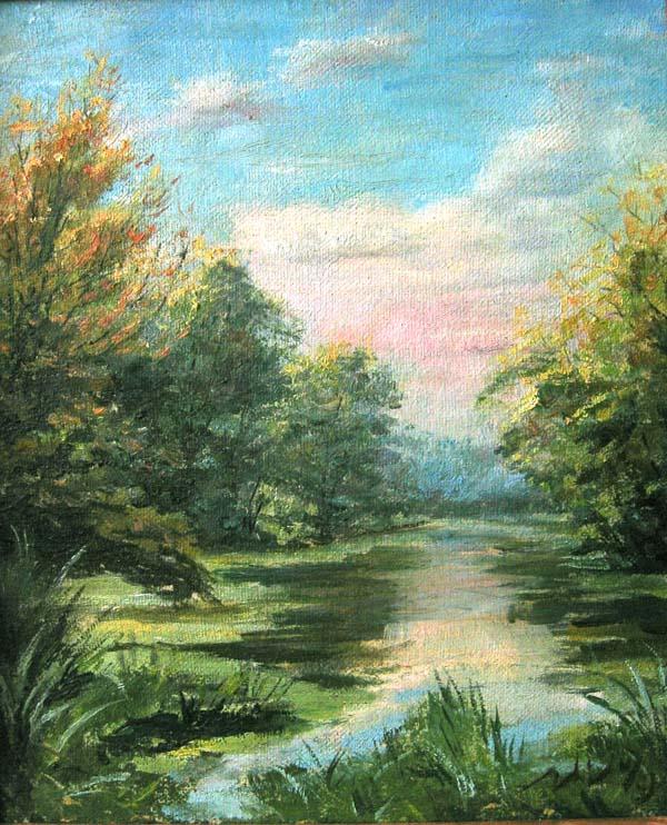 Луцино зимний пейзаж